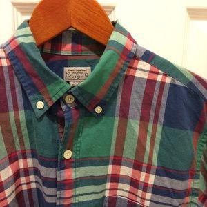 Men's J. Crew Medium Summer Plaid Shirt